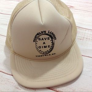 Vintage 80s Tightwad Mo Save A Dime Trucker Hat